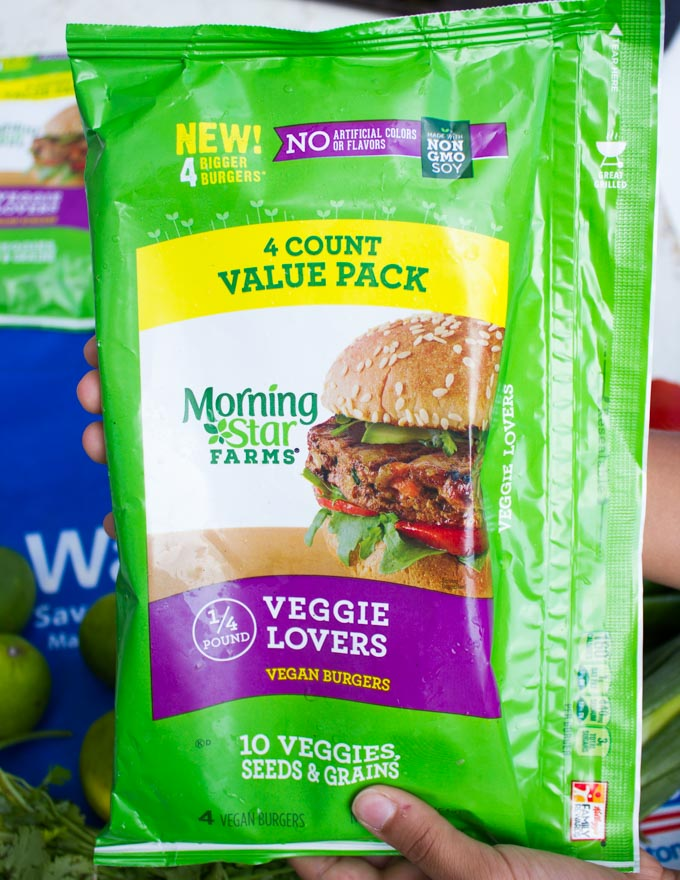 bag of veggie burgers