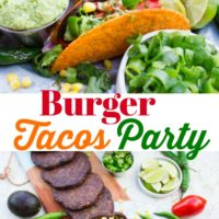 Burger Tacos Party Long Pin
