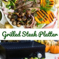 Long Pin for Grilled Steak and Fall Veggies Platter