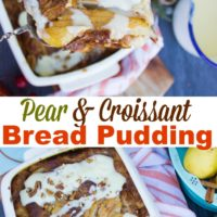 Long pin for the pear croissant bread pudding with creme anglaise recipe
