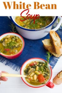 Long Pin for White Bean Soup Recipe