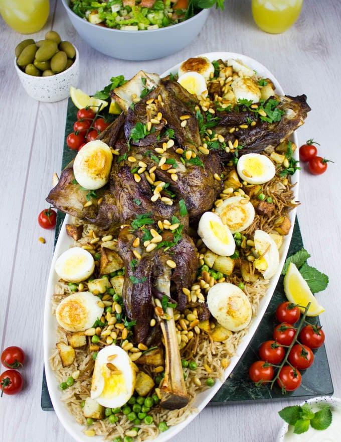 Final plated lamb shoulder recipe