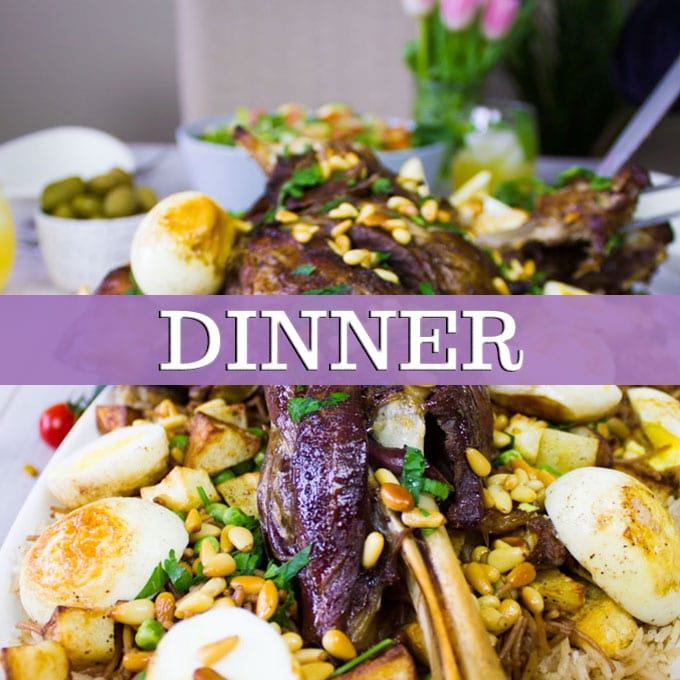 Dinner recipes banner