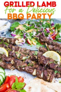 Long Pin For Grilled Lamb Skewers recipe