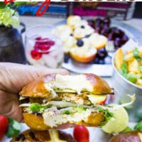 Long Pin for Veggie Burger With Crunchy Asian Slaw