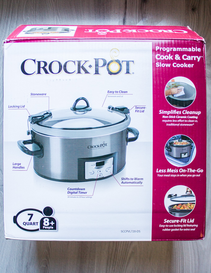 Box of crock-pot used for roasting the nuts