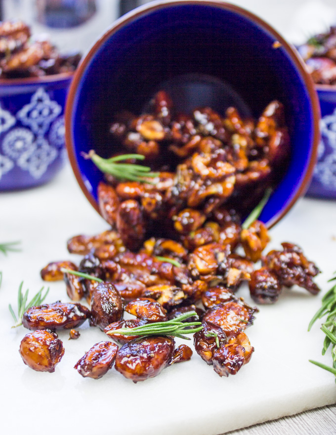spiced Nuts with rosemary