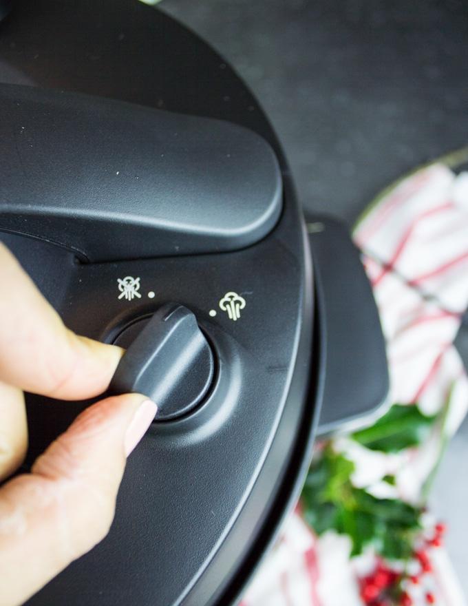 Release steam button