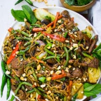 Long pin Easy Stir Fry Recipe with Lamb and Veggies