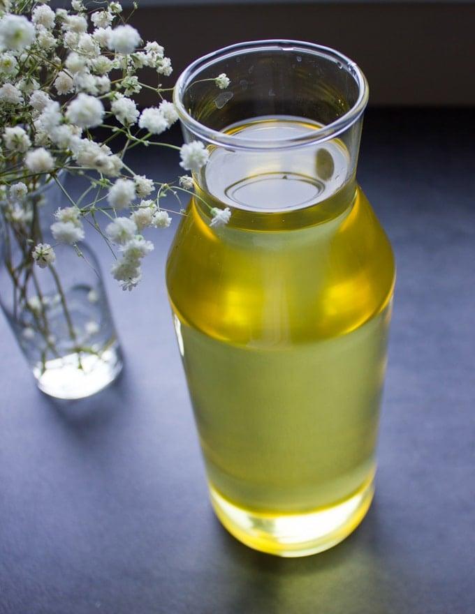 A bottle of soybean oil