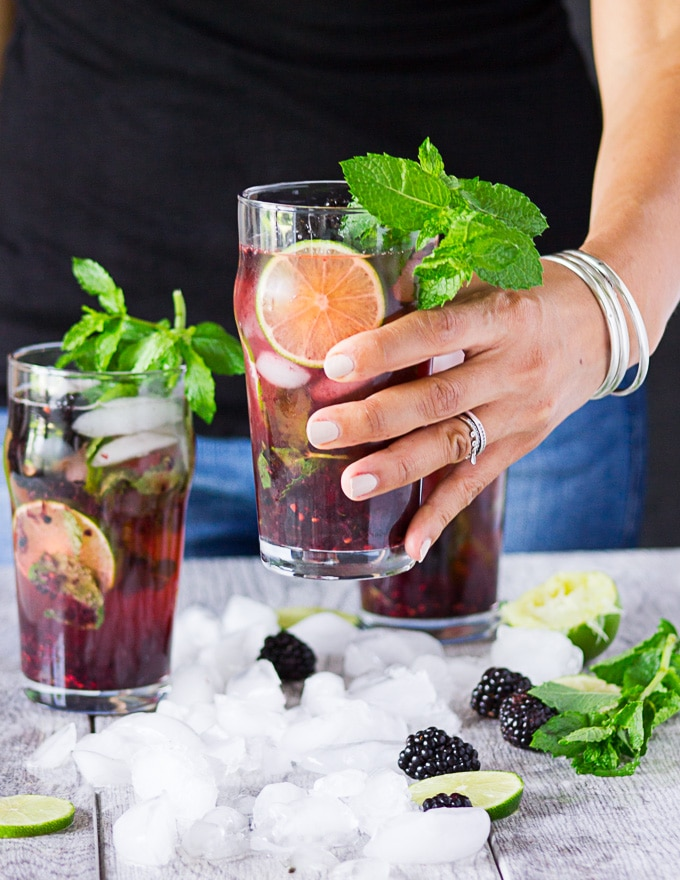 Blackberry Mojito – A Virgin Mojito Recipe
