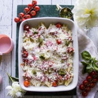Layered Ingredients for Ricotta Stuffed Shells