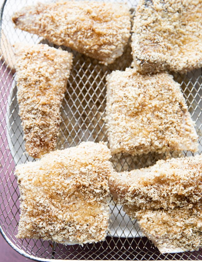 uncooked fish in air fryer
