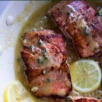 Sockeye Salmon with Lemon Butter Sauce Pin