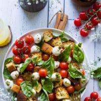 Long pin for caprese salad