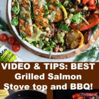 Pin for grilled salmon