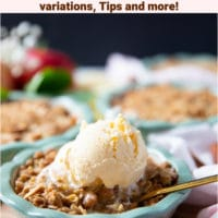 Pin image for apple crumble